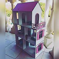 """Домик для кукол деревянный """"VIP"""" 3 этажа + мебель в подарок"""