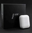 Блютуз навушники i100. Бездротові навушники Bluetooth білі, фото 2