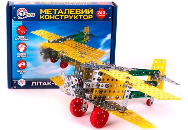 """Конструктор металевий """"Літак-біплан Технок"""" 4791"""