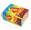 Love is блок жуйок упаковка набір оригінальний подарунок на День Закоханих, 8 Березня ідея жувальна гумка