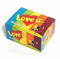 Love is блок жуйок упаковка набір оригінальний подарунок на День Закоханих, 8 Березня ідея жувальна гумка, фото 1