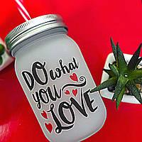 Банка c трубочкой Jar Do what you love 450 мл (JA_20L031_KR)