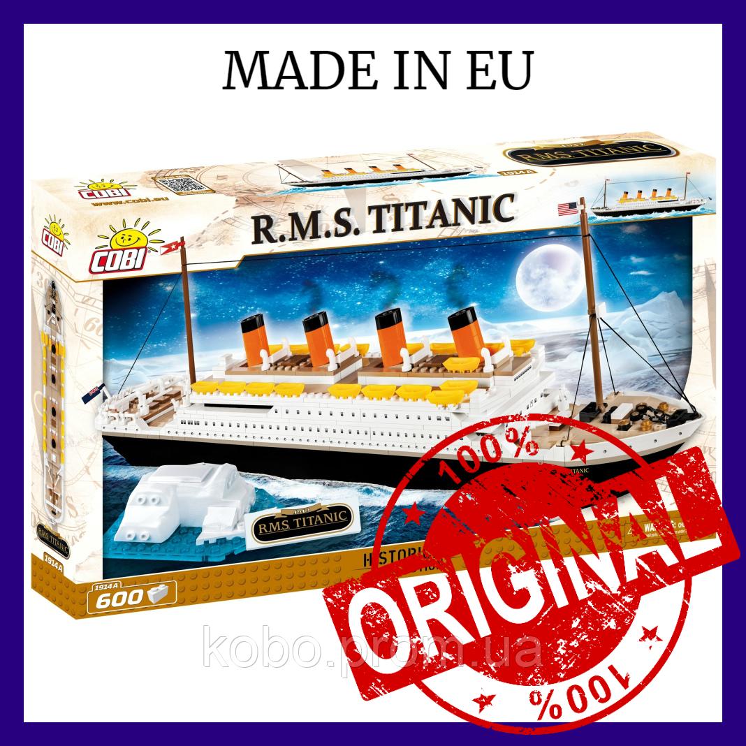 ТОП! Конструктор COBI Титаник, 600 деталей Круизный лайнер Titanic COBI-1914A (Made in EU)