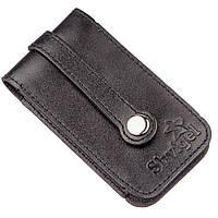 Компактная кожаная ключница SHVIGEL 13961 Черная, Черный, фото 1