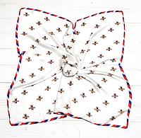 Шейный шелковый платок Моника, 70х70 см, белый