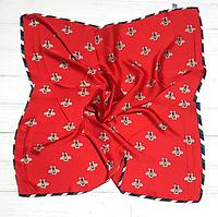 Шейный шелковый платок Fashion Моника 70х70 см красный