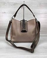 Золотистая мини сумочка! Женская маленькая сумка 57613 с длинным ремешком через плечо, фото 1