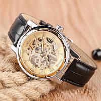 Мужские механические часы Winner 8012С Black-Silver-Gold