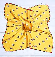 Шейный шелковый платок Fashion Моника 70х70 см желтый