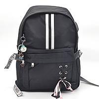 Городской рюкзак Winner черный с бантом