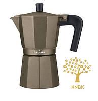 Кофеварка гейзерная Maxmark 300мл. (черная)