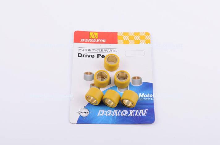 Ролики вариатора 17*12 Suzuki 6,5г желтые DONGXIN, фото 2