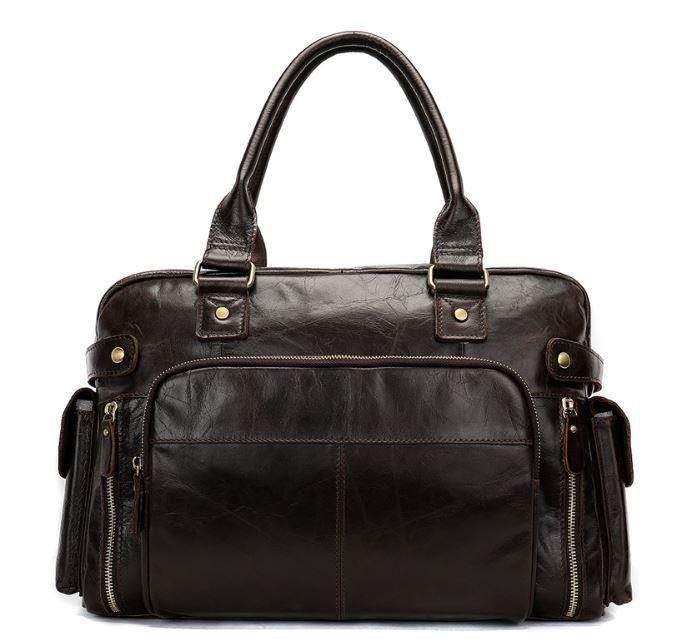 Дорожная сумка Vintage 14755 Коричневая, Коричневый