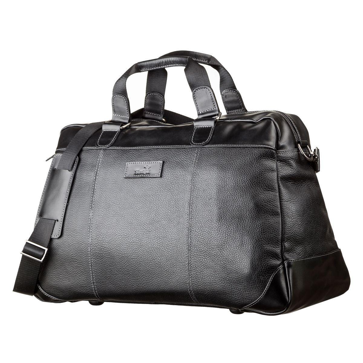 Дорожная сумка SHVIGEL 11120 кожаная Черная, Черный
