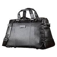 Дорожная сумка SHVIGEL 11120 кожаная Черная, Черный, фото 1