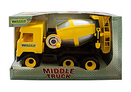 Бетономешалка  Middle truck желтая