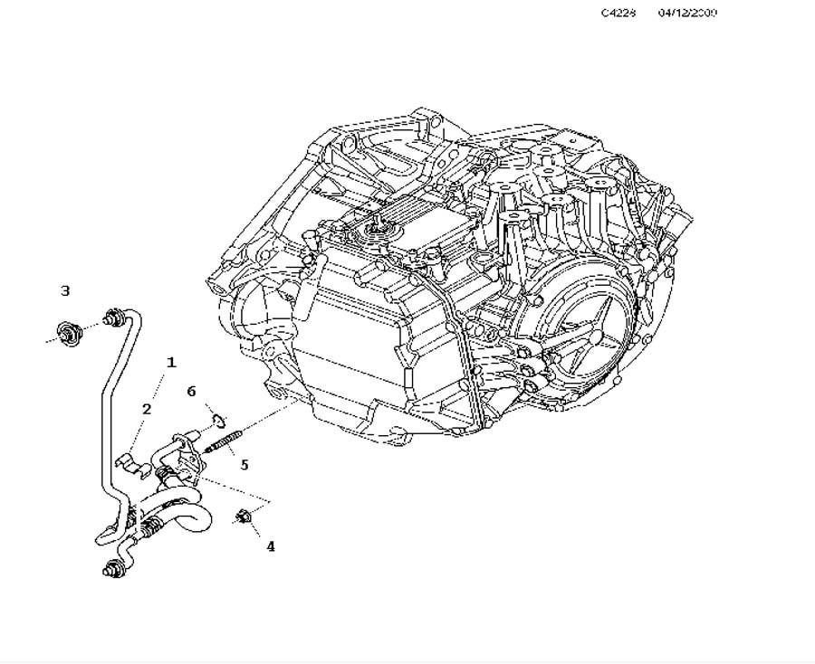 Штуцер трубки охлаждения АКПП GM 13278294 OPEL Insignia-A & CHEVROLET Malibu & SAAB 9-5