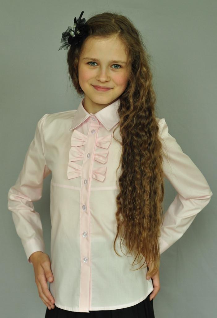 Блуза Свит блуз мод.2042 розовая р.122
