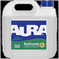 Aura Unigrund BioProtekt 1 л - Универсальная акриловая воднодисперсионная грунтовка с антиплесневыми добавками