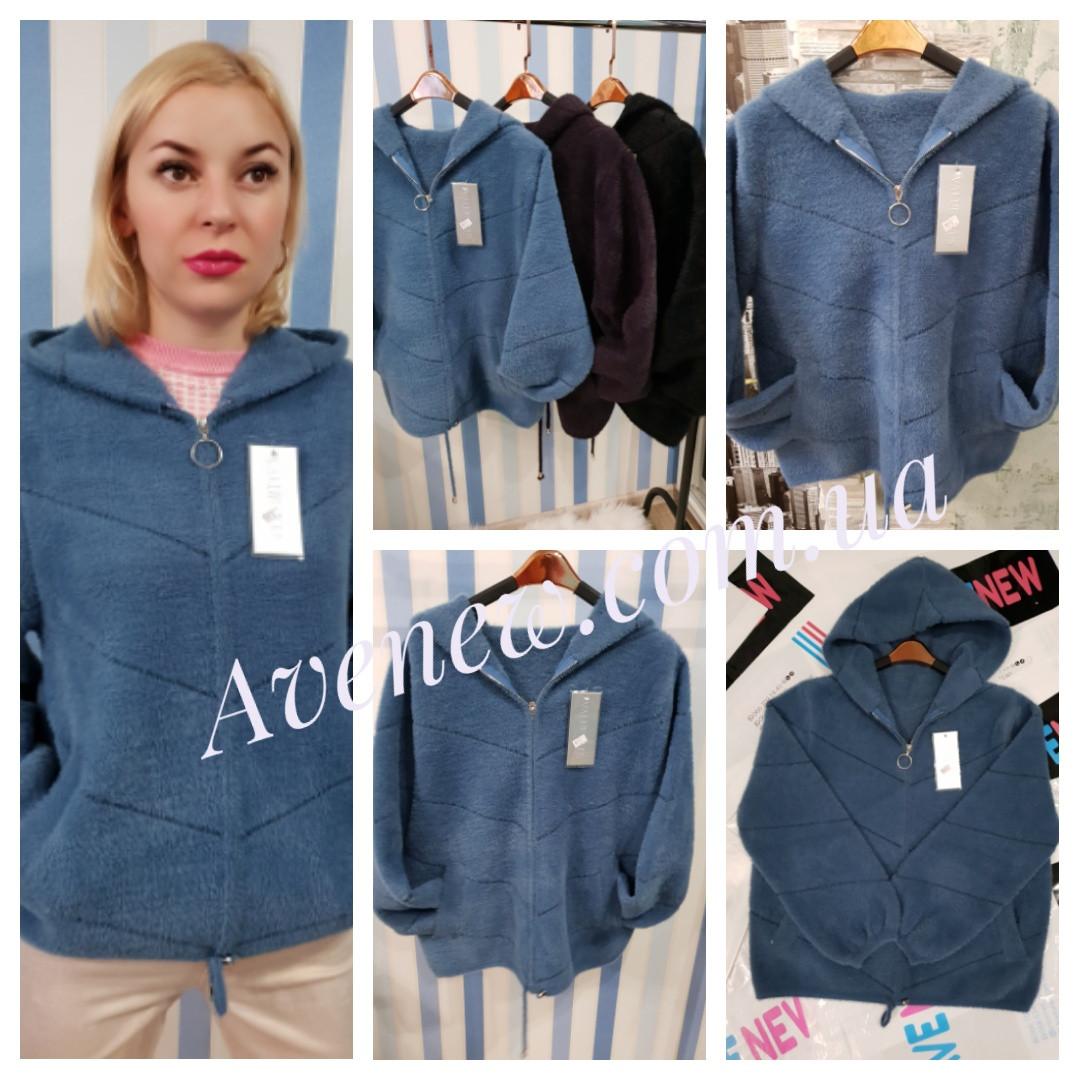 Женская куртка с капюшоном из шерсти альпаки