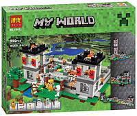 """Конструктор Bela 10472 Minecraft \ Майнкрафт (аналог Lego 21127) """"Крепость"""", 990 дет."""