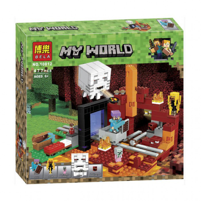 """Конструктор Bela 10812 """"Портал в Нижний мир"""" (аналог Lego Майнкрафт,  Minecraft 21143), 477 дет"""
