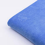 Однотонный ХБ велюр тёмно-голубого цвета, фото 4