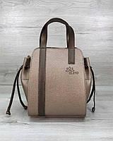 Золотистая сумка T5213 с косметичкой через плечо, фото 1