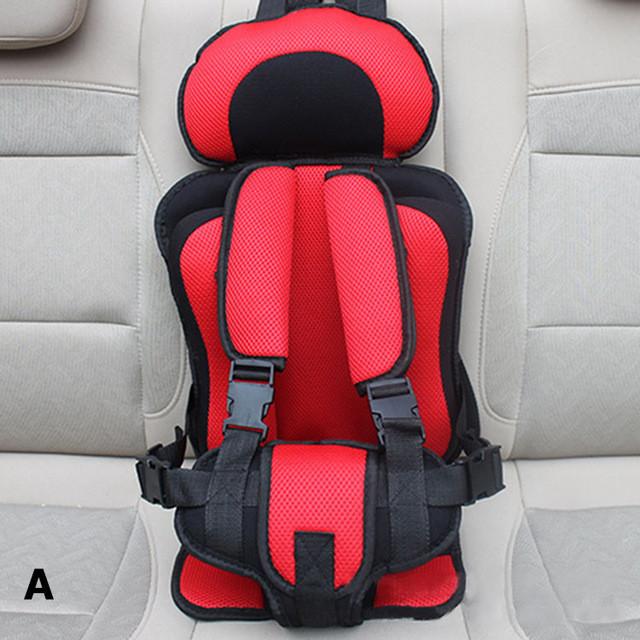Детское автокресло бескаркасное 9-36 кг. Кресло автомобильное до 12 лет  портативное  (красное)