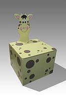 """Дитячий ящик для іграшок закритий """"Жираф"""""""