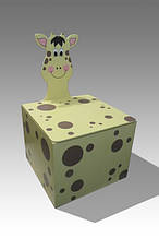 Ящик для игрушек закрытый (с крышкой) Жираф (169.01)