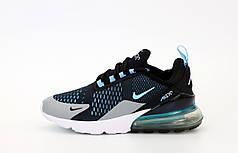 Мужские кроссовки Nike Air Max 270. Black Blue. ТОП Реплика ААА класса.