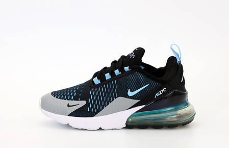 Мужские кроссовки Nike Air Max 270. Black Blue. ТОП Реплика ААА класса., фото 2