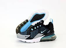 Мужские кроссовки Nike Air Max 270. Black Blue. ТОП Реплика ААА класса., фото 3