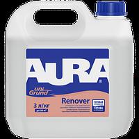 Aura Unigrund Renover 1 л - Универсальная укрепляющая грунтовка глубокого проникновения
