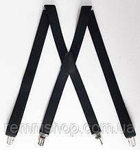 Жіночі класичні підтяжки чорні 2,5 мм