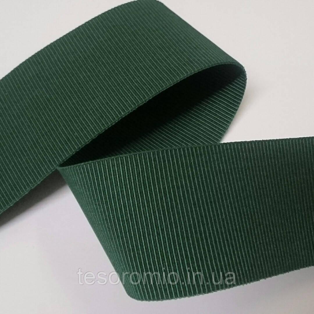 Резинка для одежды, репсовая, жесткая, зеленая 40мм ширина