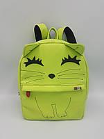 Рюкзак детский Котёнок Forsa Салатовый рюкзак с вышивкой
