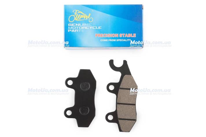 Колодки тормозные (диск) 4T GY6 50-150 (RACE/STORM, ухо в ліво, черные) KOMATCU, фото 2