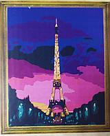 """Картина-раскраска по номерам на холсте 40*50 G080 """"Париж"""" (набор акриловых красок+2 кисти)"""