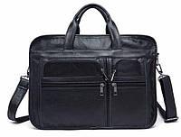 Вместительная дорожная сумка Vintage 14883 Черная, Черный, фото 1