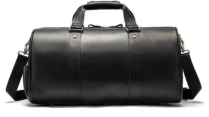 Сумка дорожная мужская кожаная Vintage 14894 Черная