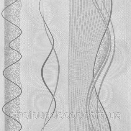 Обои бумажные акриловые (пенообои) а  0,53*10,05 абстракция  Слобожанские серый