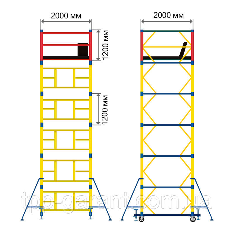 Вишка-тура будівельна 2х2 ( 13+1 )