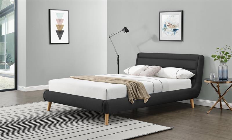 Кровать ELANDA 160 темно-серый Halmar