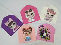 Шапка трикотаж для девочек 4-6 лет