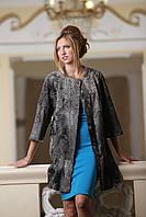 Пальто из каракульчи Svakara цвета Серебро