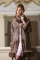Пальто из каракульчи со съемной опушкой из куницы swakarabroadtail jacket coat furcoat, фото 1