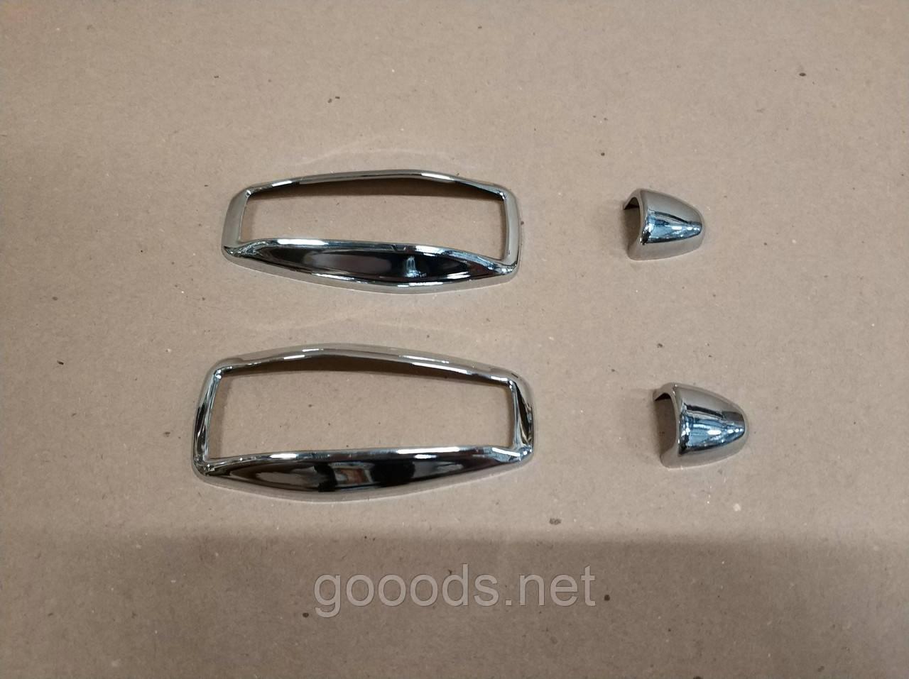 Хром окантовка на повторители поворота и омыватели Hyundai Tucson