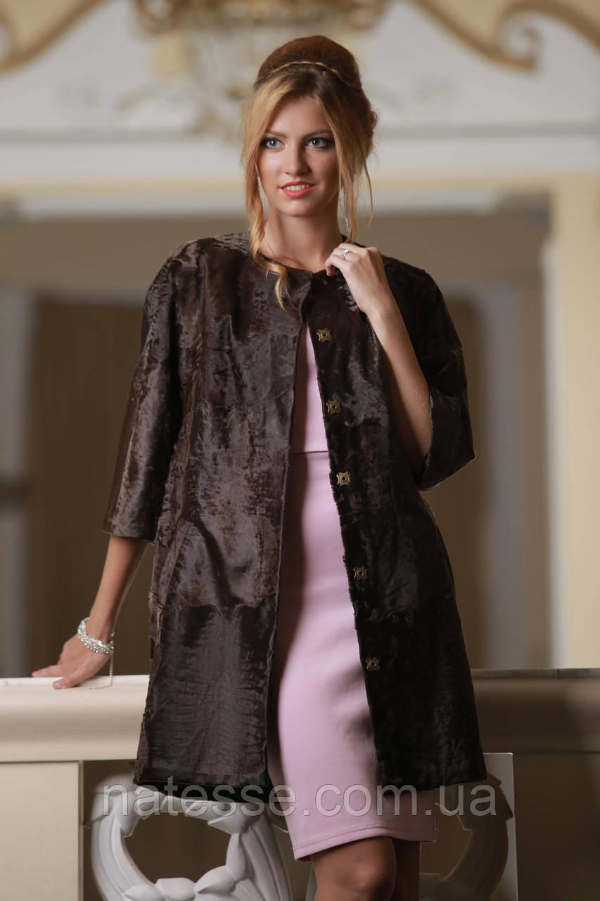"Пальто из каракульчи цвета ""горький шоколад"" swakarabroadtail jacket coat furcoat"